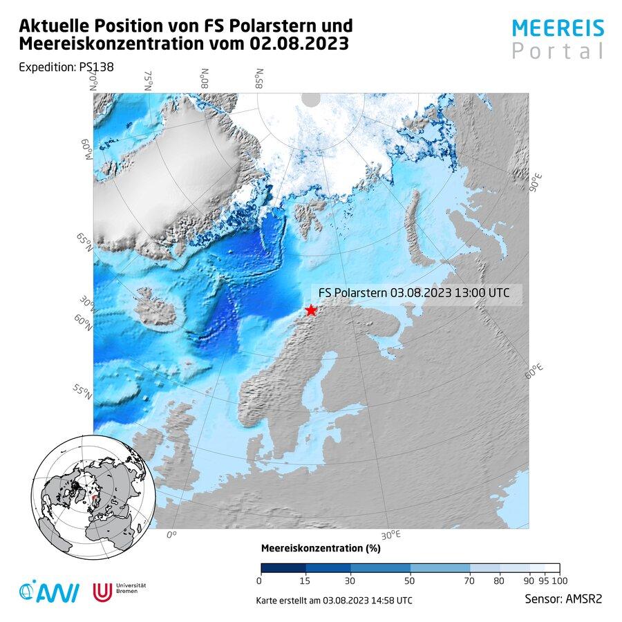 Aktuelle Positionskarten Polarstern